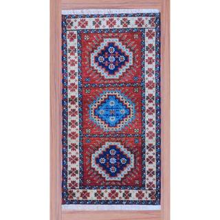 Indo Hand-knotted Kazak Peach/ Ivory Wool Rug (2'2 x 4')
