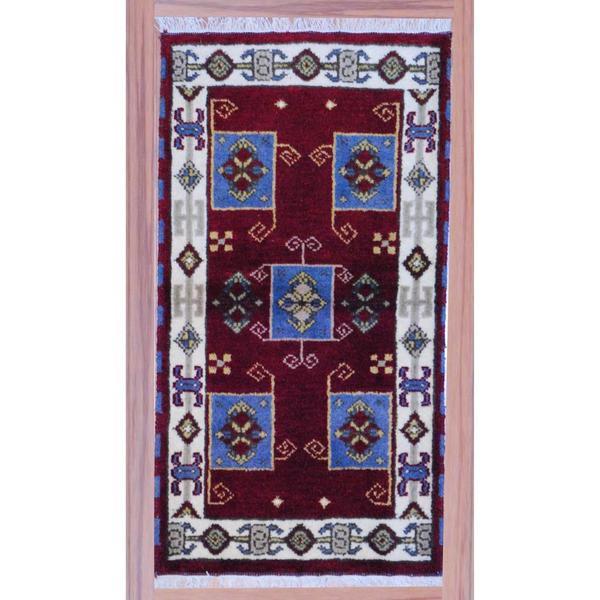 Herat Oriental Indo Hand-knotted Kazak Wool Rug (2'2 x 4') 11063066