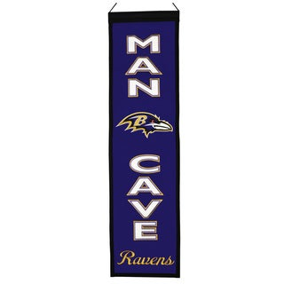 NFL Wool Man Cave Embroidered Banner