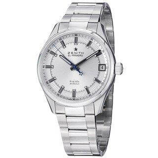 Zenith Men's 03.2170.4650.01M 'ElPrmo Espad' Silver Dial Stainless Steel Watch