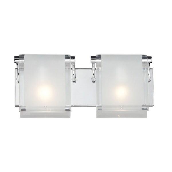 Zephyr 2-light Chrome Wall Sconce