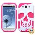 MYBAT White/ Pink Skullcap Hybrid Case for Samsung� Galaxy S3