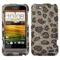 MYBAT Leopard Skin/ Camel Diamante Protector Case for HTC One V