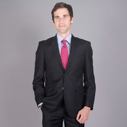 Giorgio Fiorelli Men's Slim Fit Black 2-Button Suit