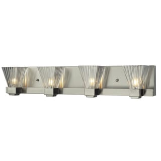 Iluna 4-light Brushed Nickel Vanity