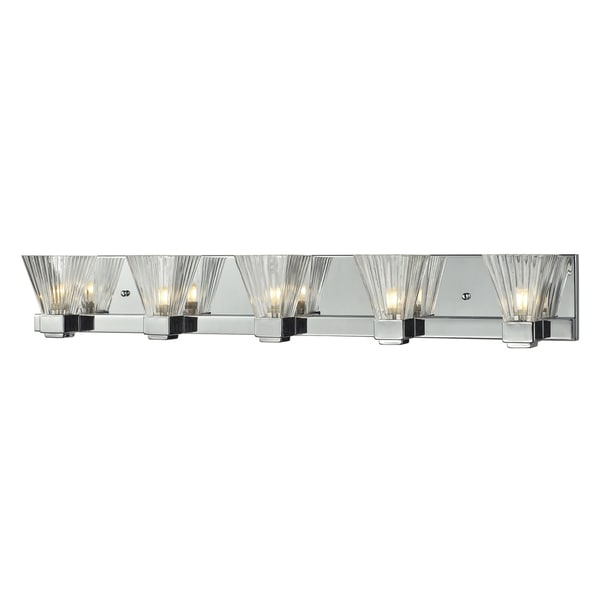 Iluna 5-light Chrome Wall Sconce
