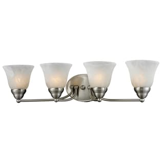 Athena 4-light Brushed Nickel Vanity Lamp