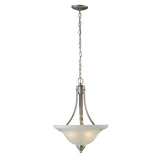 Athena 3-light Brushed Nickel Ceiling Lamp