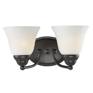 Athena 2-light Bronze Vanity Light