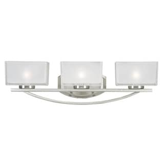 Cardine 3-light Brushed Nickel Vanity