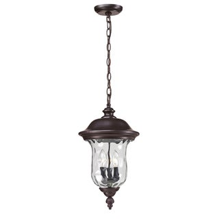 Armstrong Outdoor Bronze 3-light Chain Fixture