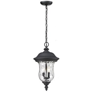 Armstrong Outdoor Black 3-light Chain Fixture