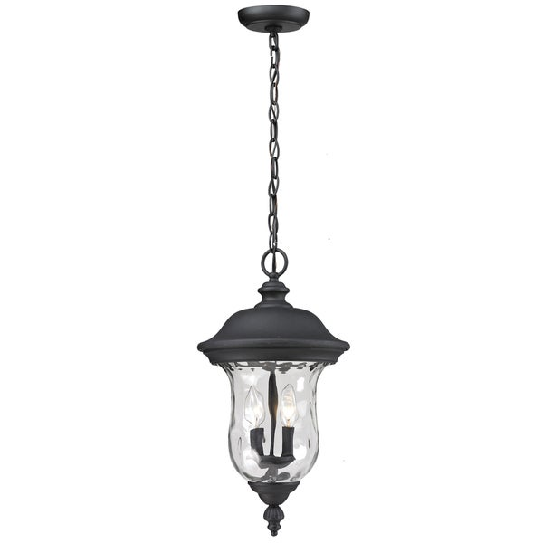 Armstrong Outdoor Black 2-light Chain Fixture