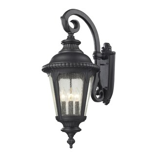 Medow 4-light Black Outdoor Wall Fixture