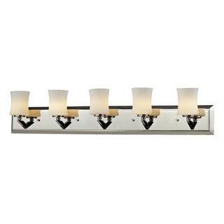 Elite 5-light Chrome Vanity