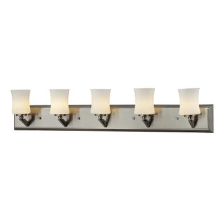 Elite 5-light Brushed Nickel Vanity
