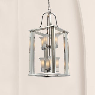 Lotus 8-light Chrome Finish Foyer Light Pendant