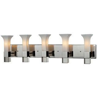 Lotus 5-light Chrome Finish Wall Vanity