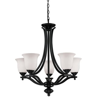 Lagoon 5-light Bronze Finish Chandelier