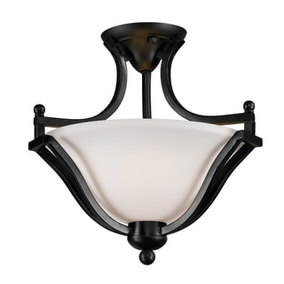 Lagoon Bronze 2-light Semi-Flush Mount