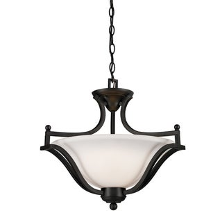 Lagoon Matte Black 3-light Pendant