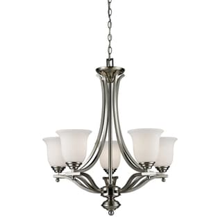 Lagoon Brushed Nickel 5-light Chandelier