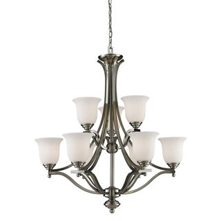 Lagoon Brushed Nickel 9-light Chandelier