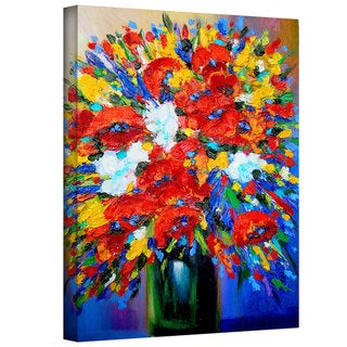 Susi Franco 'Happy Foral' Gallery-Wrapped Canvas