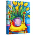 Susi Franco 'Yellow Tulips in van Gogh's Chair' Gallery-Wrapped Canvas