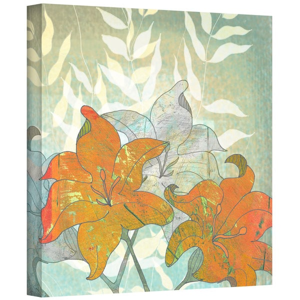 Jan Weiss 'Day Lilies' Gallery-Wrapped Canvas