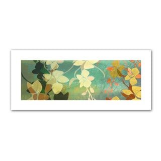Jan Weiss 'Shadow Florals' Unwrapped Canvas