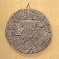 Handcrafted Ceramic 'Aztec Moon Goddess' Wall Plaque (Mexico)