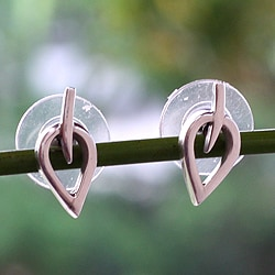 Handcrafted Sterling Silver 'New Life' Earrings (Mexico)