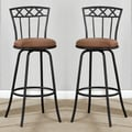 X-Back Adjustable Metal Swivel Counter Height Bar Stools (Set of 2)
