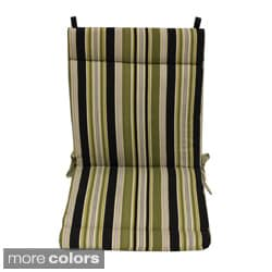 Blazing Needles Stripe/ Floral Outdoor Seat/Back Chair/Rocker Cushion
