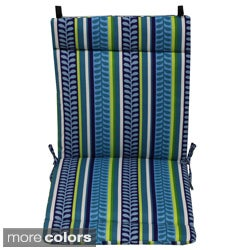 Blazing Needles Floral Outdoor Seat/Back Chair/Rocker Cushion