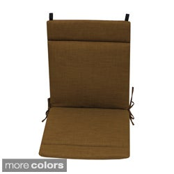 Blazing Needles Solid Neutral Outdoor Seat/Back Chair/Rocker Cushion