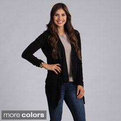 Women's Solid Open Front Cardigan