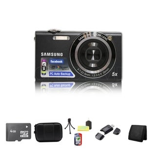 Samsung SH100 14.2MP Black Digital Camera 4GB Bundle