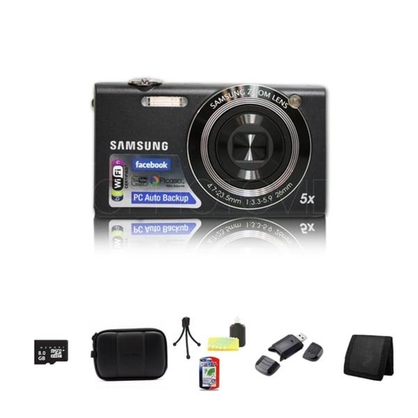 Samsung SH100 14.2MP Digital Camera 8GB Bundle