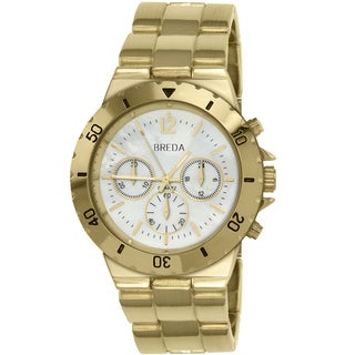 Breda Women's 'Parker' Goldtone Boyfriend Watch