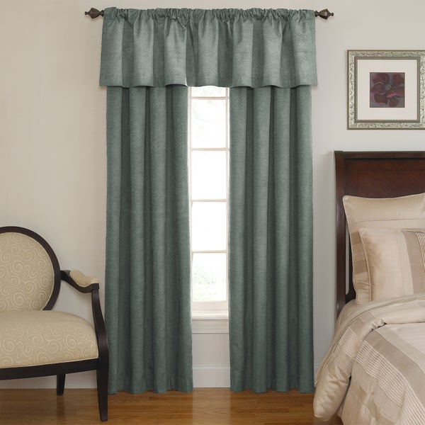 Sound Asleep Room-Darkening Blue River Curtain Collection