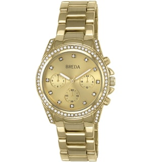 Breda Women's 'Khloe' Rhinestone Runway Watch