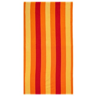 Celebration Jacquard 2-piece Cabana Red Striped Beach Towel Set