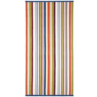 Celebration Jacquard 2-piece Blue Multi Striped Beach Towel Set