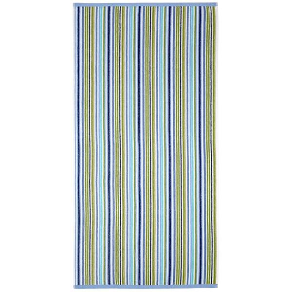 Celebration Jacquard 2-piece Cool Summer Blue Multi Striped Beach Towel Set