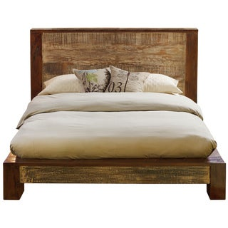 Dakota Reclaimed Wood Platform Bed