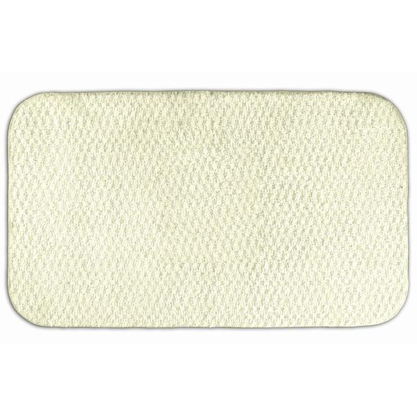 Somette Enliven Textured Ivory Bath Rug