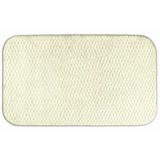 Enliven Textured Ivory Bath Rug