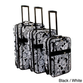 World Traveler Bandana Expandable 3-piece Upright Luggage Set